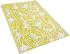 Beliani Outdoor vloerkleed geel 120 x 180 cm KOTA