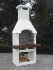 Grijze Intergard Integard Tuinhaard Houtskoolbarbecue Beton Nr. 9