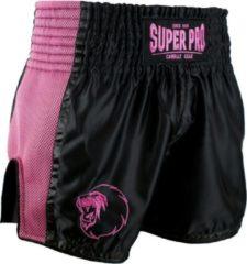 Super Pro Kickboksshort Brave Zwart/Roze - XXS
