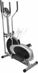 Grijze Crosstrainer met 4 stangen en hartslagmeter