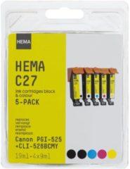 HEMA C27 Vervangt Canon PGI-525 + CLI-526BCMY