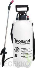 Toolland DT20008, druksproeier drukspuit 8 L, 18 x 18 x 54 cm