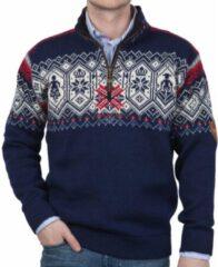 Dale of Norway - Norge Sweater - Wollen trui maat L, blauw/grijs/zwart