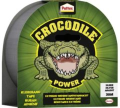 Pattex Crocodile Power Tape Ducttape Ducktape - Waterdicht - Extreem sterk - 30 mt - Grijs - Premium Grip