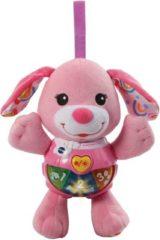 VTech Baby Knuffel & Speel Puppy Roze - Interactief Knuffeltje