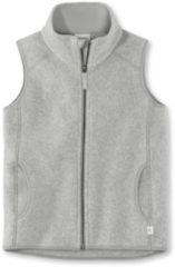 Hessnatur Kinder Fleece Weste aus Bio-Baumwolle – grau – Größe 110/116
