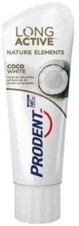 Afbeelding van 2 tubes Prodent Tandpasta Long Active Nature Elements Coco White 75 ml
