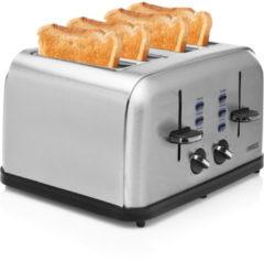 Princess 142355 Toaster Steel 4 Broodrooster Zilver