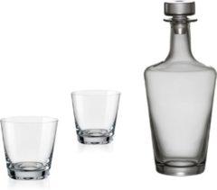 Transparante Bohemia crystal Kristallen whisky set Jive 3 delig