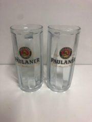 Transparante Wijgert.nl Paulaner bierpul set 2x50cl bierpullen bier pul pullen salvator weissbier witbier