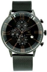 Montreville MON-8 Horloge Baku staal zwart-rosekleurig 45 mm