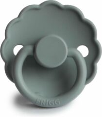 Licht-grijze FRIGG Fopspeen Daisy maat 1 - 0-6 maanden - French Gray - Natuurrubber