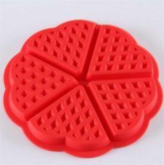 Go Go Gadget Siliconen wafel vorm | 5 wafels in de vorm van een hart | rood