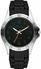 Garonne KQ21Q460 Kinderhorloge staal/siliconen zwart-blauw 33 mm