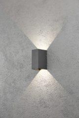 Konstsmide Cremona 7940-370 Buiten LED-wandlamp Energielabel: LED (A++ - E) 6 W Warm-wit Antraciet