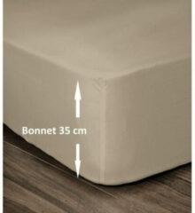 Lovely Home Hoeslaken 100% Katoen 180x200cm - Muts 35cm - Beige