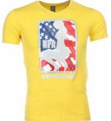 Gele T-shirt Korte Mouw Mascherano T-shirt - NPA Print