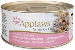 Applaws Cat - Tuna Fillet & Pacific Prawn in Broth - 12 x 70 g