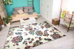 Aledin Carpets Jaffna - Laagpolig - Vloerkleed 160x230 cm - Bloemen - Meerkleurig - Tapijt voor woonkamer - Slaapkamer