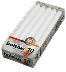Witte Bolsius Dinerkaarsen - 230/20 - Wit - 10 St