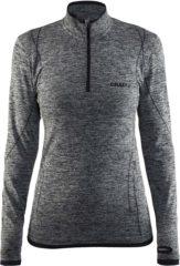 Thermoshirt met rits - Active comfort - Donkergrijs - lange mouw - Dames - Craft - XL