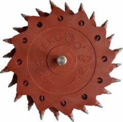 Rode Tercoo Roterende Straler - Triple Disk - Schuurmachine - Schuurpapier - Verf Verwijderen