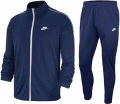 Marineblauwe Nike Nsw Ce Trk Suit Pk Basic Heren Trainingspak - Midnight Navy/White/(White) - Maat XL