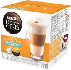 Oranje NESCAFÉ Dolce Gusto Nescafé Dolce Gusto Latte Macchiato Cups 3x8 ( Ongezoet, Unsweetened, Ungesusst )