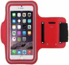 Universele hardloop telefoonhouder armband – geschikt voor telefoons 15cm t/m 16,3cm – Telefoonhouder hardlopen universeel – - o.a. iPhone en Samsung - Rood