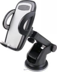 Merkloos / Sans marque Universele smartphone houder voor in de auto met zuignap en verstelbare arm zwart - Auto telefoon houder - Handsfree