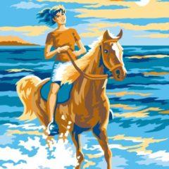 Sequin Art Schilderen Op Nummer Paardrijdster
