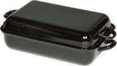 Riess Braadpan met Deksel 32 x 22 cm - Zwart