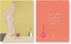 Koraalrode Tinne + Mia Tinne+Mia · Schriften set A5 (3 stuks) - Loua