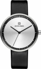 Zilveren Jacob Jensen watches dameshorloge Strata 280