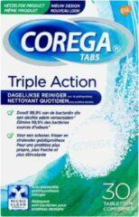 6x Corega Tabs Triple Action 3 min 30 stuks