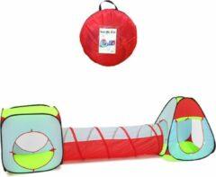 Blauwe Fuegobird spelen Speeltenten - Speeltent - 3 delige XL speeltent - Kruiptunnel - ballenbad - Speelhuis met Tunnel - Kruiprol