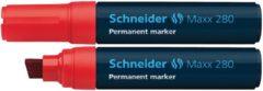 Marker Schneider Maxx 280 Permanent Beitelpunt Rood