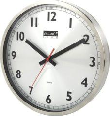 Balance Time kwartsklok. met batterij DESIGN, diam 300mm, wandmontage