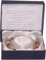 Een Wens Halfedelstenen Armband in Geschenkdoos Honing-Jade