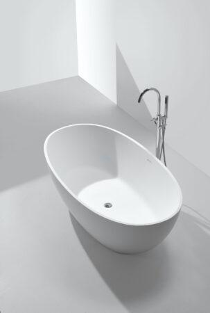 Afbeelding van Saniclear Stilo vrijstaand bad solid surface mat wit 178x92x55cm