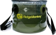 Transparante Ridgemonkey Perspective Collapsible Bucket - Opvouwbare Emmer - 10L
