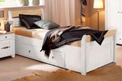 Home affaire Bett »Lotta«, in 3 Breiten + 2 Farben, mit aufwendigem Kopfteil, inkl. Bettschubladen