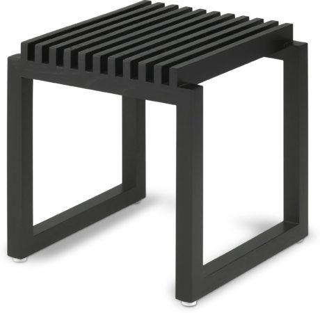 Afbeelding van Stoel - Badkamerkruk zwart Eiken Skagerak / kruk / douche zitje