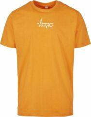 FitProWear Casual T-Shirt Heren Oranje - Maat L - Shirt - Sportshirt - Casual Shirt - T-Shirt Ronde Hals - T-Shirt Slim Fit - Slim Fit Shirt - T-Shirt korte mouwen