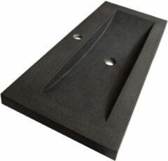 Sanituba Corestone wastafel basalt met kraangat 120cm