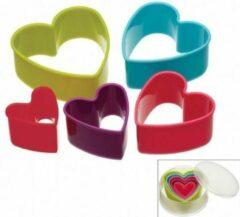 Set van 5 uitstekers - hartjes - Colour Works