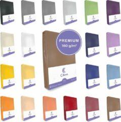 Cillows Premium Jersey Hoeslaken voor Matras - 90x200 - 100x220 cm - (tot 25 cm hoogte) – Bruin
