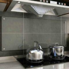 VidaXL Spatscherm keuken 120x50 cm gehard glas transparant
