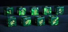 Infinite Black LLC Elder Dice (9D6 Tube) - groen Lovecraft Elder Sign