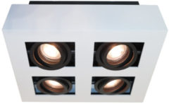 Artdelight Spot Bosco 4 lichts L 25 cm B 25 cm wit-zwart